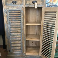 Home Again - Distressed Cabinet | #furniture #shabbychic #shabbychicfurniture #wilmingtonnc