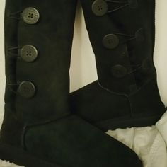 Ugg Bailey Button Triplet Worn twice, tiny glue spot on o ne of boot. UGG Shoes