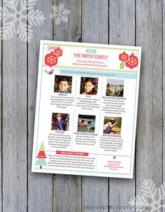 Check Out Christmas Newsletter Year In Review Newsletter Family