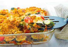 Tomato Gratin Recipe, Zucchini Tomato Casserole, Macaroni Casserole, Casserole Dishes, Vegetarian Side Dishes, Vegetarian Recipes, Classic Italian Dishes, Summer Side Dishes, Tomato And Cheese