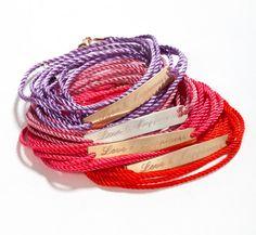 Personalized wish bracelet wrap cord door Justbelievebybelinda, ₪370.00
