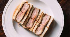 katsu sandos breaded deep fried pork loin, showing up with chicken beef & fish. Pork Sandwich, Sandwiches, Sweet Onion Sauce, Japanese Milk Bread, Tonkatsu Sauce, Kobe Beef, Homemade Ketchup, Veggie Chips, Snack Recipes