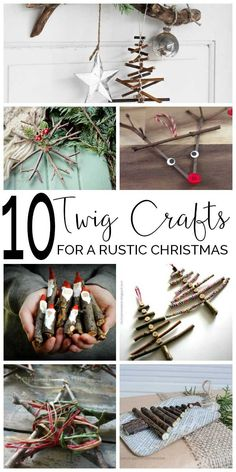 Natural Christmas decorations - Ten beautiful Christmas Twig Crafts for you and the children to make and decorate the home with from Stars to Santa something for everyone to try. Christmas Activities, Christmas Crafts For Kids, Diy Christmas Ornaments, Christmas Projects, Holiday Crafts, Natural Christmas Decorations, Crafts For The Home, Homemade Xmas Decorations, Christmas Gifts