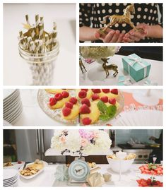 Modern Meets Vintage Baby Shower via Kara's Party Ideas #BabyShower #PartyIdeas