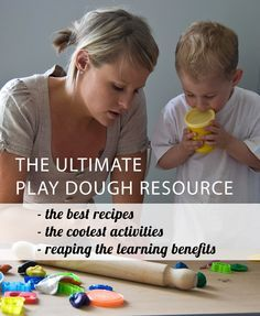 The ultimate round-up of play dough recipes, activities, tools and more.: