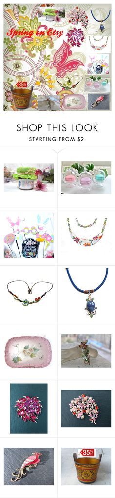 """""""Spring on Etsy"""" by luckystanlv ❤ liked on Polyvore featuring Polaroid, kitchen and vintage"""