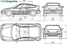1987 Honda Civic CR-X Coupe blueprint