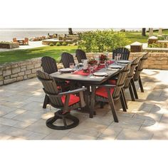 Berlin Gardens Orchid Outdoor Poly Dining Set (89,990 MXN) ❤ liked on Polyvore featuring home, outdoors, patio furniture, outdoor patio sets, garden furniture, outdoor rocker chair, outdoor table and chairs, outdoor rocking chairs and outdoor garden furniture