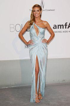 Heidi klum. The Best Looks from the Red Carpet at the amfAR Gala - Best Dressed Celebrities at amfAR 2014 - Elle