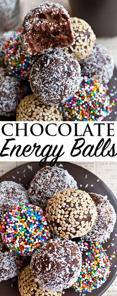 These healthy CHOCOLATE FUDGE BITES are raw vegan and gluten free! These fudgy chocolate date balls are a delicious healthy snack on busy days. These no bake energy balls are also great for packing in school lunches and also make a great healthy after sc Healthy Snacks To Buy, Quick Snacks, Clean Eating Snacks, Kid Snacks, Healthy Lunches, Healthy Chocolate Snacks, Chocolate Protein, Night Snacks, Gourmet Recipes