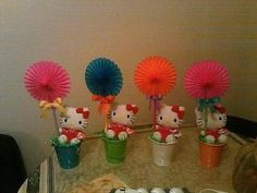 Hostess with the Mostess® - Emily's Hello Kitty 1st Birthday Centerpieces