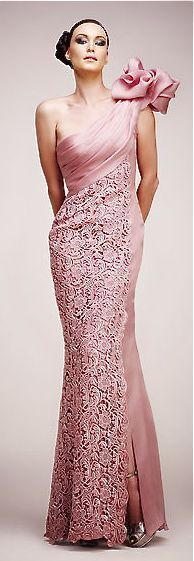 Tony Ward pink gown