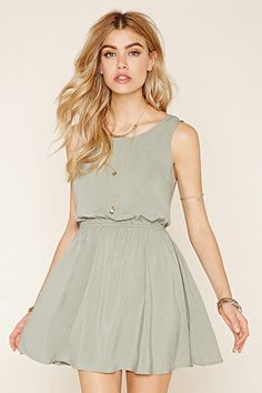 Tie-Back Mini Dress