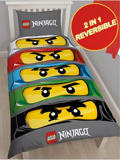 Lego Ninjago Single Duvet Cover | Bedding | Bedroom | Quilt