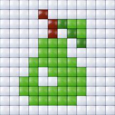 #pixelhobby #pixelen #pixel.gift #fruit #peer #kids #toy #hobby #creatief