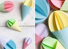 DIY Sommerdeko: Eis Anhänger aus Tonpapier