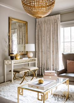 A gorgeous living room by Rivers Spencer in feminine tones and textures.