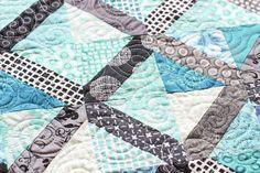 X-block // Mini Quilt by Jeni Baker