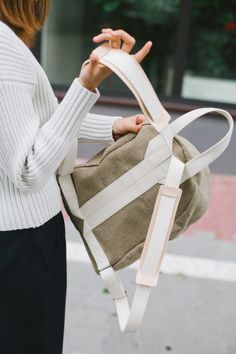 Boxy Backpack Raw Natural