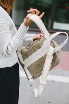 Boxy Backpack Raw Natural