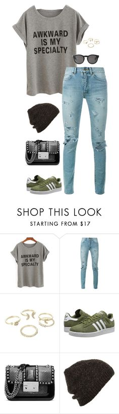 """Untitled #3445"" by meandelstyle ❤ liked on Polyvore featuring Yves Saint Laurent, Lipsy, adidas Originals, MICHAEL Michael Kors, Topshop and Monki"