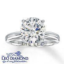 14K White Gold 3 Carat Leo Diamond Solitaire............. I wish :)