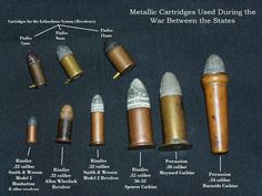 Metallic cartridges used during the war between the states.