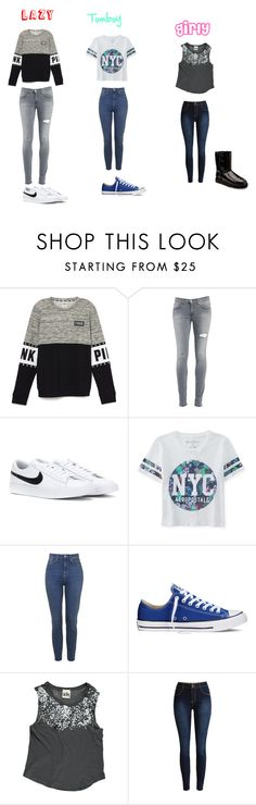 """#3looks"" by young-zendaya05 on Polyvore featuring Dondup, NIKE, Aéropostale, Converse, UGG Australia, women's clothing, women's fashion, women, female and woman"