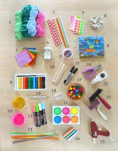 Art Supplies Eloise& Dvt Art Supplies, Beginner Art in house painting materials list Kids Craft Box, Kids Craft Supplies, Arts And Crafts Supplies, Craft Kits, Crafts For Kids, School Supplies, Easy Crafts, Art Materials List, Art And Craft Materials