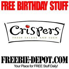 FREE BIRTHDAY STUFF – Cripsers - FREE BDay Kid Meal