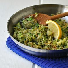 Sauteed Shredded Zucchini Recipe - Circle of Moms Side Recipes, Vegetable Recipes, Whole Food Recipes, Vegetarian Recipes, Healthy Recipes, Shredded Zucchini Recipes, Healthy Cooking, Healthy Eating, Healthy Food