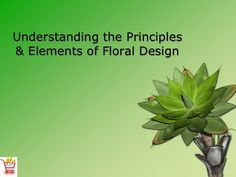 Understanding the Principles & Elements of Floral Design (Slideshare) - OLT