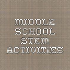 Middle School Stem Activities
