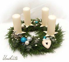 *großer Zypressen Adventskranz*  Kranz aus hochwertigen Künstlichen Zypressenzweigen(täuschend echt) und Weihnachtlichem Deko (glitzert schön, kann man leider auf den Fotos nicht wirklich...