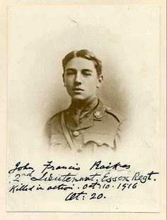 Killed in action Battle of the Somme CWGC World War One, First World, Corpus Christi College, Ww1 Soldiers, Battle Of The Somme, Age 20's, Killed In Action, Lest We Forget, The Rev