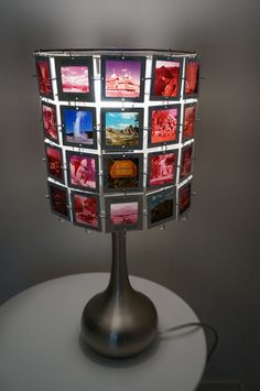 Lampshade made from vintage slides with by ...