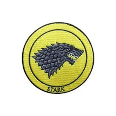 Game of Thrones Patch Stark Patch Embroidered Movie Patch Iron on Patch Sew on Patches patch patches iron on patch sew on patch badge patch movie patch Game of Thrones Stark Patch Stark wolf wolf patch 3.69 USD