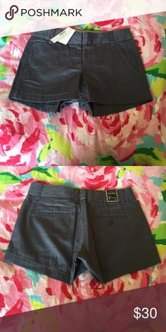 J Crew chino shorts Grey J Crew chino shorts with 3 inch inseam. Size 00. New with tags. J. Crew Shorts