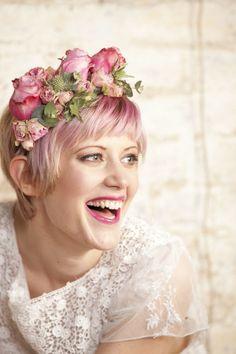 pink flower crown // photo: paola de paola