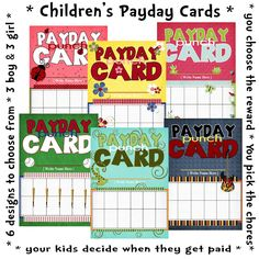 My Digital Creations: Childrens Payday Punch Card - New Release