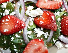 The Garden Grazer: Strawberry Spinach Salad
