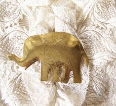 Vintage Brass Elephant Brooch Jewelry Elephant Pin Vintage