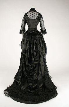 1881-1884 evening dress see Metropolitan Museum of Art.