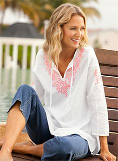 Just found this Womens Long-Sleeve Tunic - Long-Sleeved Embroidered Tunic -- Orvis on Orvis.com!