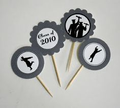 Simply Silhouettes: Free Printable Graduation Cupcake Toppers and Wrappers
