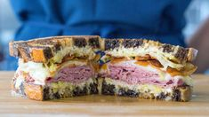 This Reuben sandwich recipe makes enough for one sandwich, including the Russian dressing. Just scale it up to make more sandwiches, and any extra dressing will keep in the fridge. If your meat is … Corned Beef Recipes, Corned Beef Brisket, Alton Brown, Best Reuben Sandwich, Reuben Recipe, Pbs Food, Sous Vide Cooking, Savarin, Wrap Sandwiches