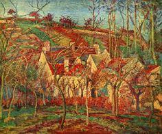 Camille Pissaro | Die roten Dächer Français : Toits Rouges, Coin d'un Village, Hiver ...