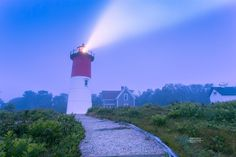 Nauset Lighthouse. A little foggy this morning at the Nauset Lighthouse. Located in Eastham, Massachusetts. Photo by Dapixara https://dapixara.com