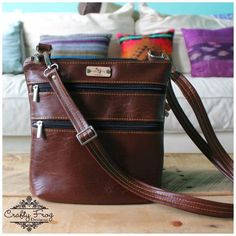 The Triple Zip - Crossbody PDF Pattern - Handmade Vegan Cork Fabric Bags Sewing Patterns Free, Sewing Tutorials, Sewing Projects, Bag Patterns, Sewing Ideas, Cork Fabric, Fabric Bags, Tote Purse, Hobo Bag