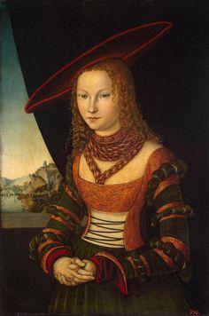cranach lucas - Portrait of a Woman. 1526. Oil on wood. 89 x 59 cm. Hermitage Museum